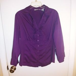 Purple Button Down Top